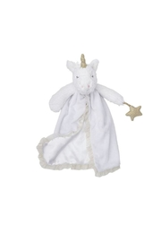 Mud Pie White Unicorn Lovie - Front cropped