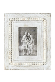 Mud Pie White-Washed Beaded Frame - Front cropped
