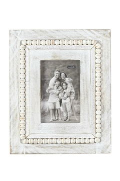 Mud Pie White-Washed Beaded Frame - Product List Image