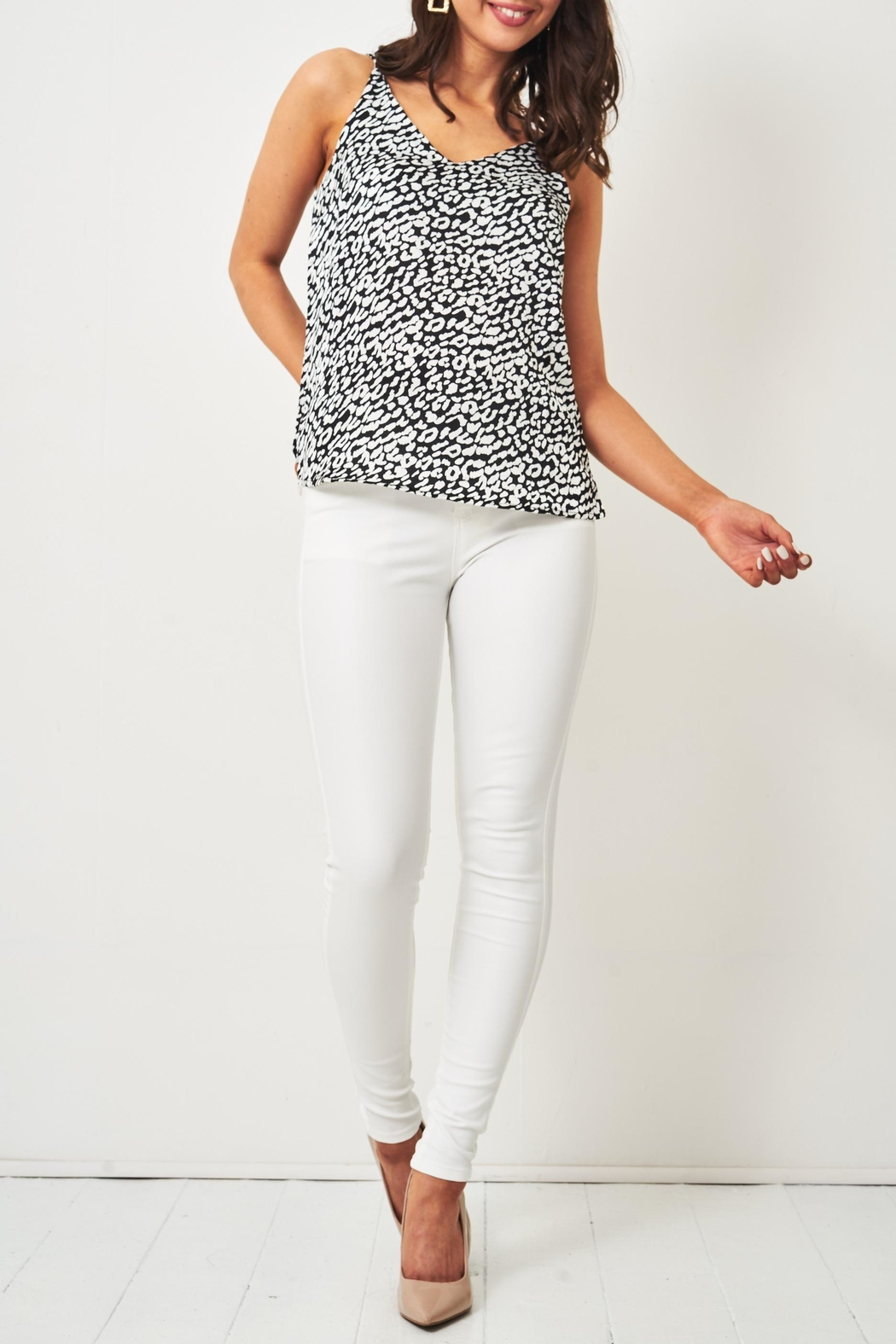 frontrow White Wax-Coated Jeans - Back Cropped Image
