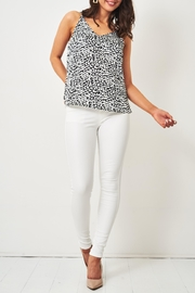 frontrow White Wax-Coated Jeans - Back cropped
