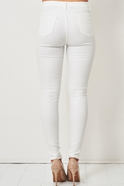 frontrow White Wax-Coated Jeans - Front full body