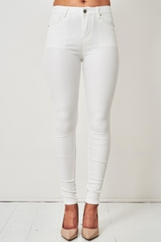 frontrow White Wax-Coated Jeans - Front cropped