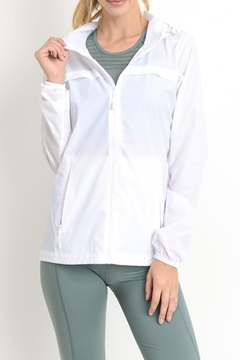 Shoptiques Product: White Windbreaker