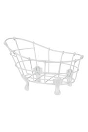Ganz White Wire Small Decorative Bathtub - Front cropped