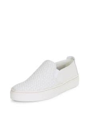 The Flexx White Woven Sneaker - Front cropped