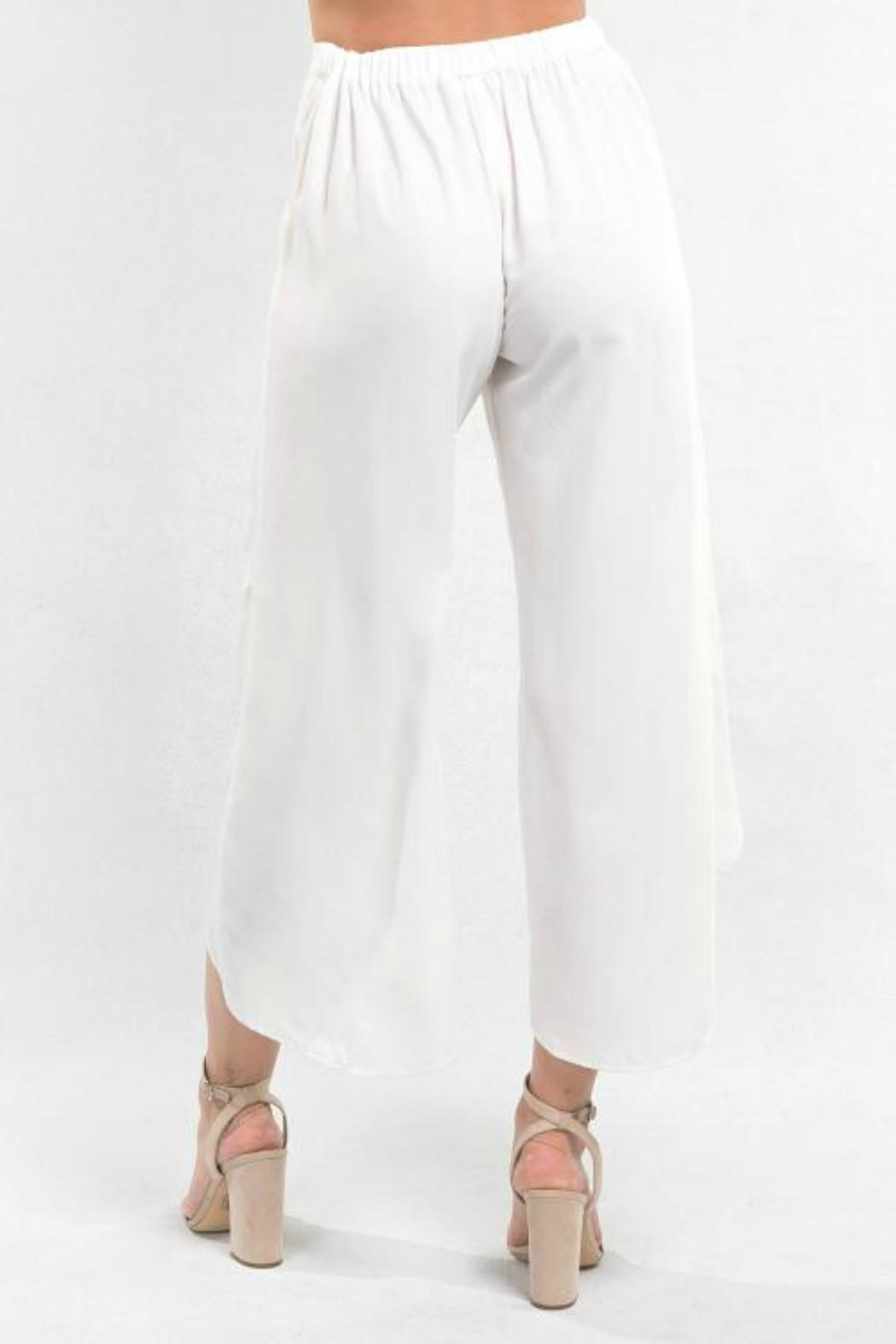 Love Stitch White Wrap Pant - Front Full Image
