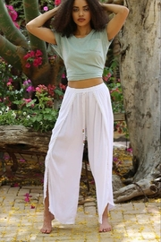 Angie White WRAP PANTS - Front full body