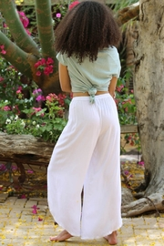 Angie White WRAP PANTS - Side cropped