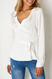 frontrow White Wrap Top - Product Mini Image