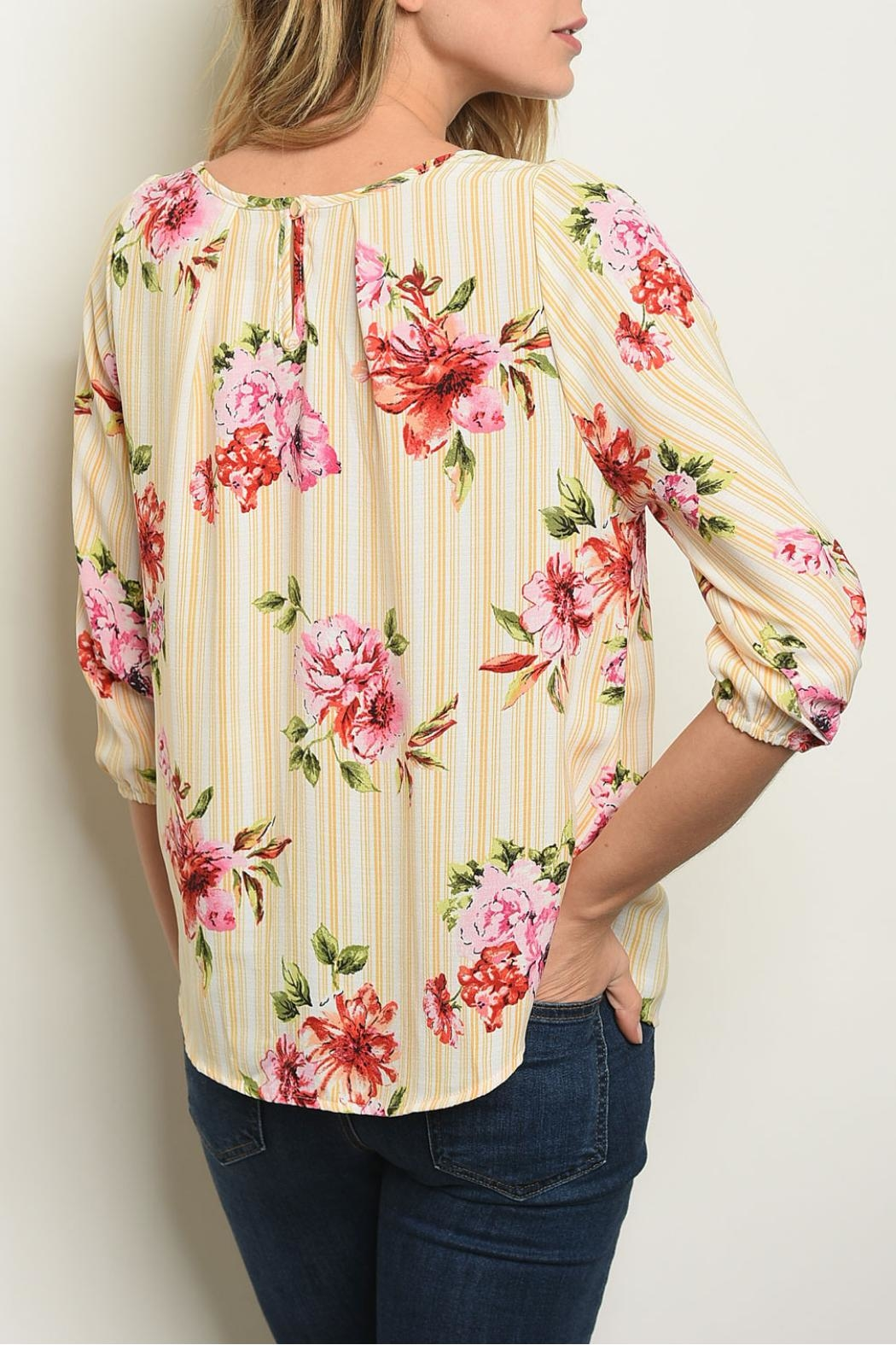 Love Letter White Yellow Blouse - Front Full Image