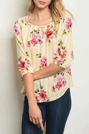 Love Letter White Yellow Blouse - Front cropped