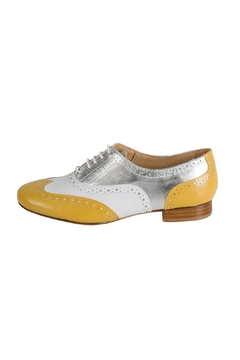 Shoptiques Product: White & Yellow Brogues