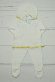 Granlei 1980 White & Yellow Newborn - Front full body