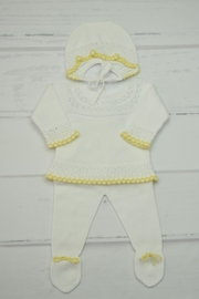 Granlei 1980 White & Yellow Newborn - Front cropped