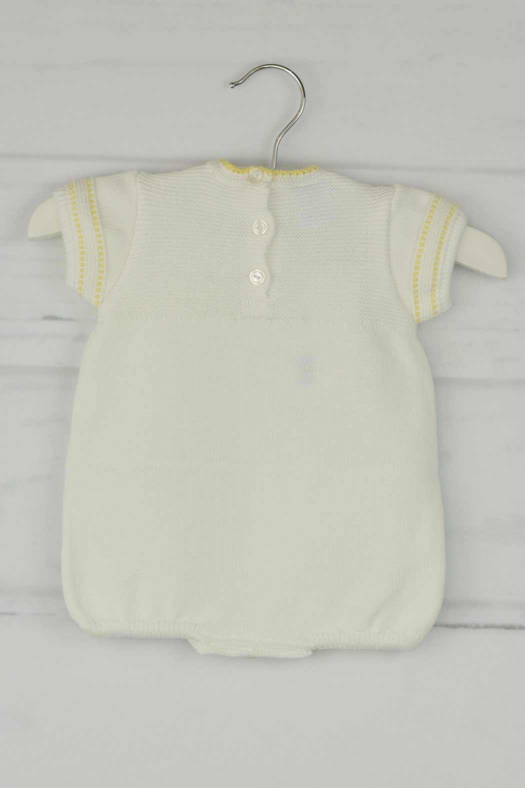 Granlei 1980 White & Yellow Onesie - Front Full Image