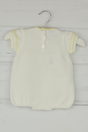 Granlei 1980 White & Yellow Onesie - Front full body