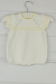 Granlei 1980 White & Yellow Onesie - Front cropped