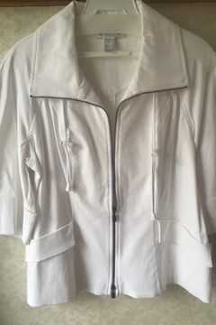 Shoptiques Product: White zip jacket