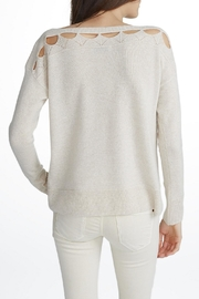 White + Warren Cashmere Cut Out Top - Front full body