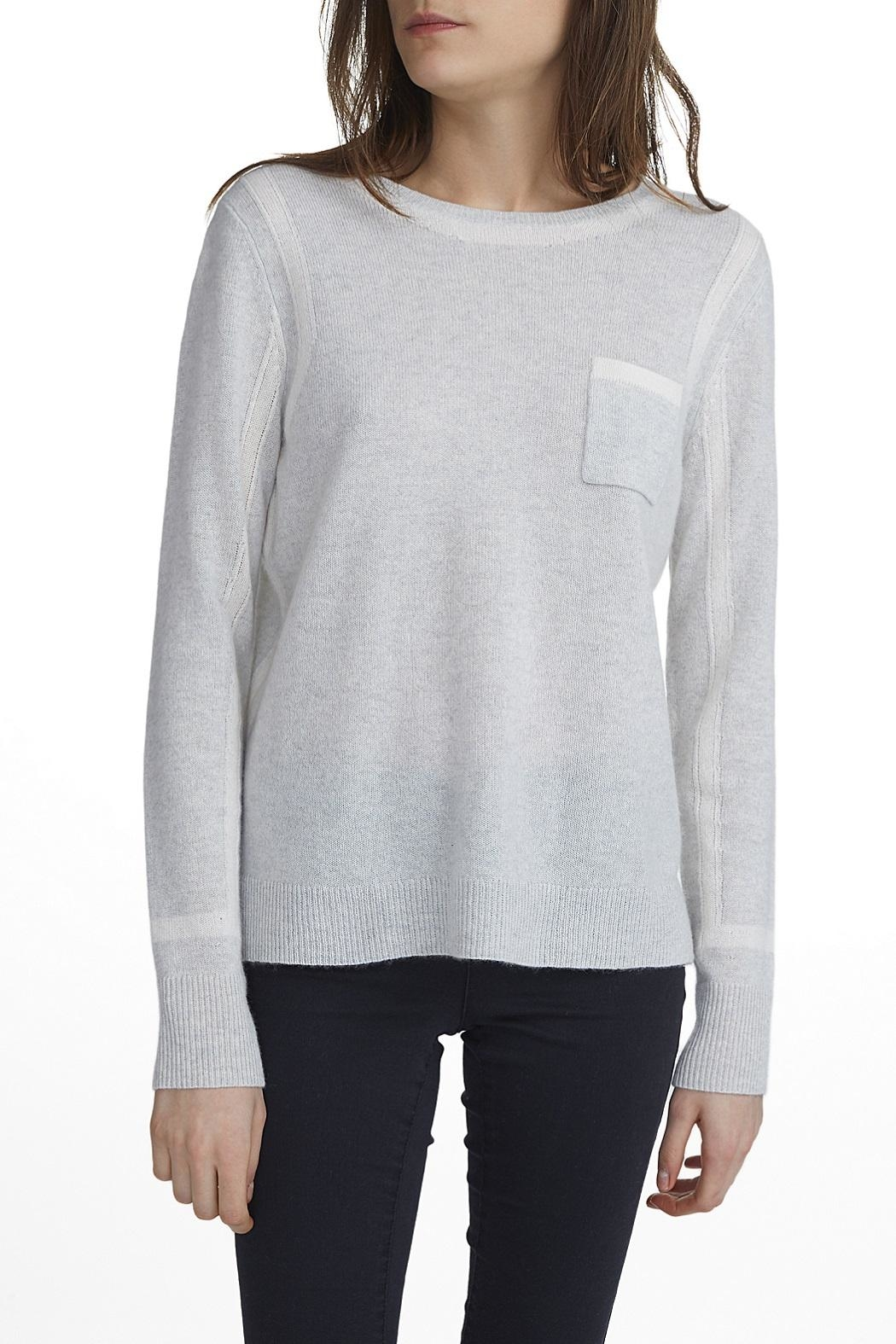 White + Warren Cashmere Framed Top - Front Cropped Image