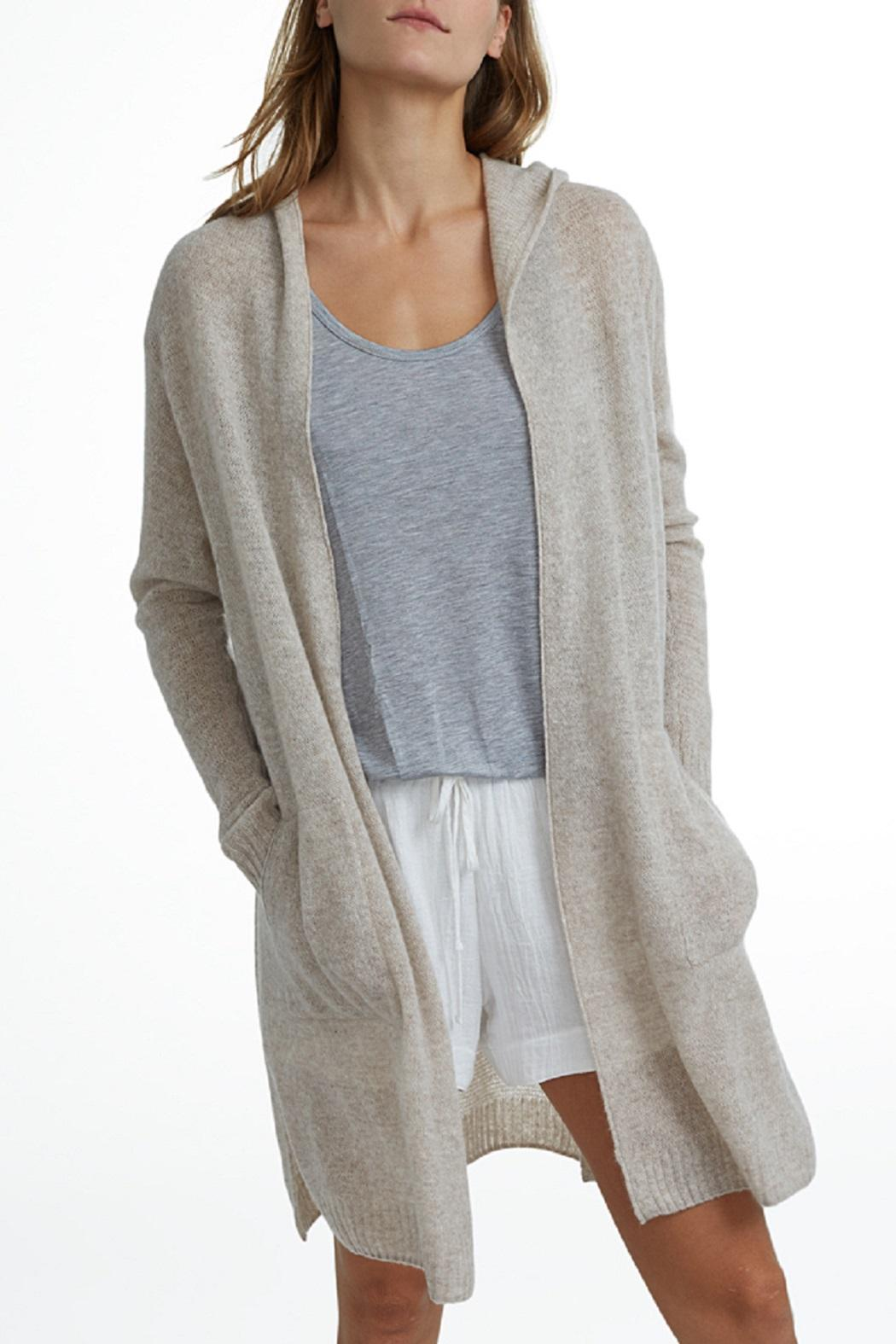White   Warren Cashmere Hooded Cardigan from New Jersey by Rouge ...