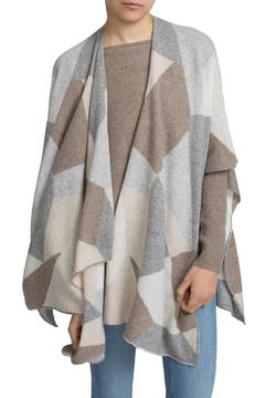 White + Warren Cashmere Intarsia Poncho - Product List Image