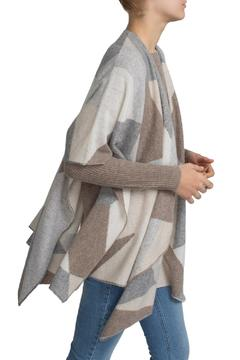 White + Warren Cashmere Intarsia Poncho - Alternate List Image
