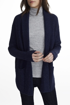 White + Warren Cashmere Luxe Stitch Coatigan - Alternate List Image