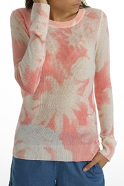 White + Warren Cashmere Palm-Print Crewneck - Product Mini Image