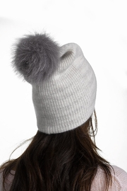 White + Warren Cashmere Pompom Beanie - Product Mini Image