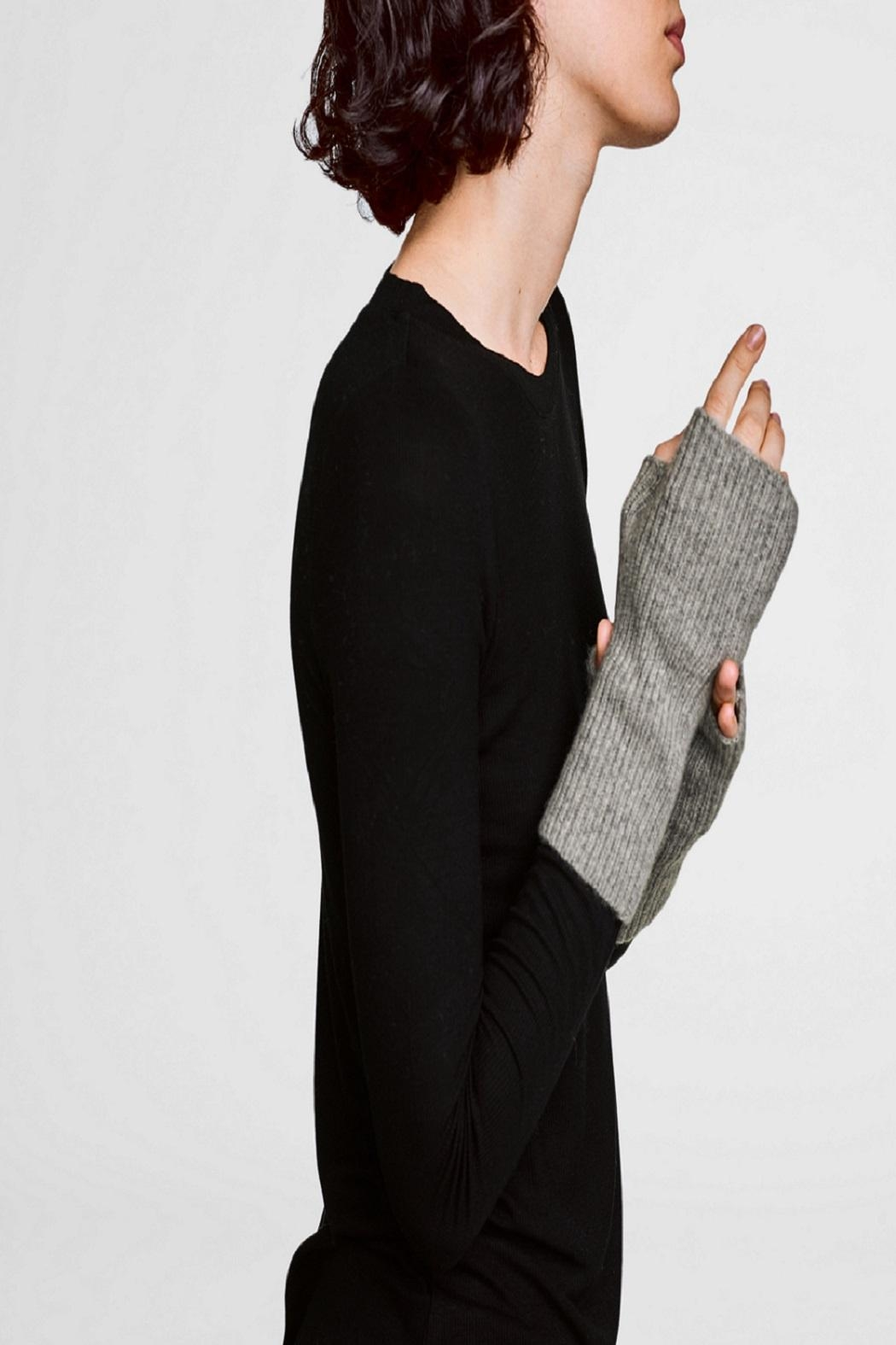 White + Warren Cashmere Rib Handwarmer - Front Cropped Image