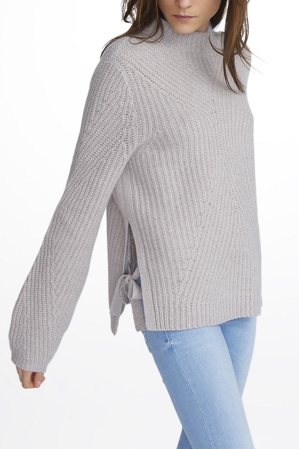 White + Warren Cashmere Mock Neck Sweater - Front Cropped Image