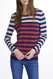 White + Warren Cashmere Striped Crewneck - Product Mini Image