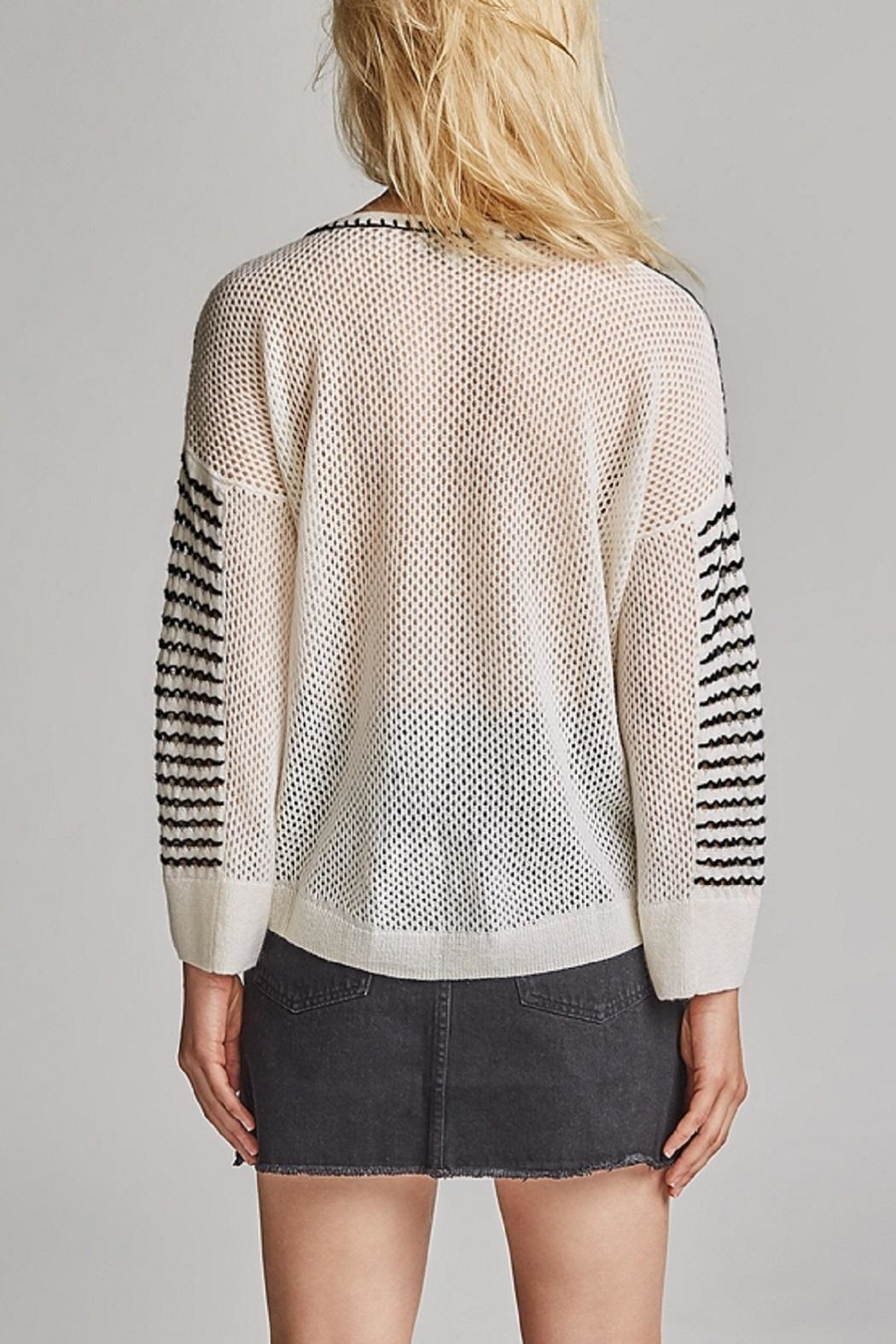White + Warren Cashmere Crew Neck Sweater - Front Full Image