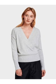 White + Warren Faux Wrap Pullover - Product Mini Image