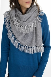 White + Warren Fringe Triangle Scarf - Front cropped