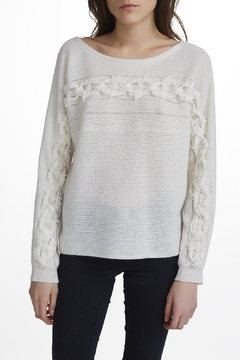 White + Warren Hand-Woven Detail Pullover - Alternate List Image