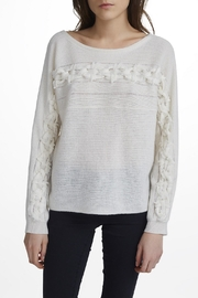 White + Warren Hand-Woven Detail Pullover - Product Mini Image