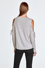White + Warren Open Laced Crewneck - Front full body