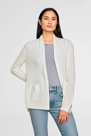 White + Warren Patch Pocket Cardigan - Product Mini Image