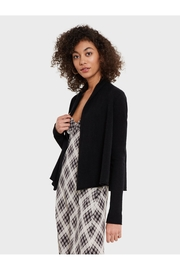 White + Warren Pleatback Open Cardigan - Front cropped