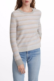 White + Warren Striped Metallic Sweater - Product Mini Image