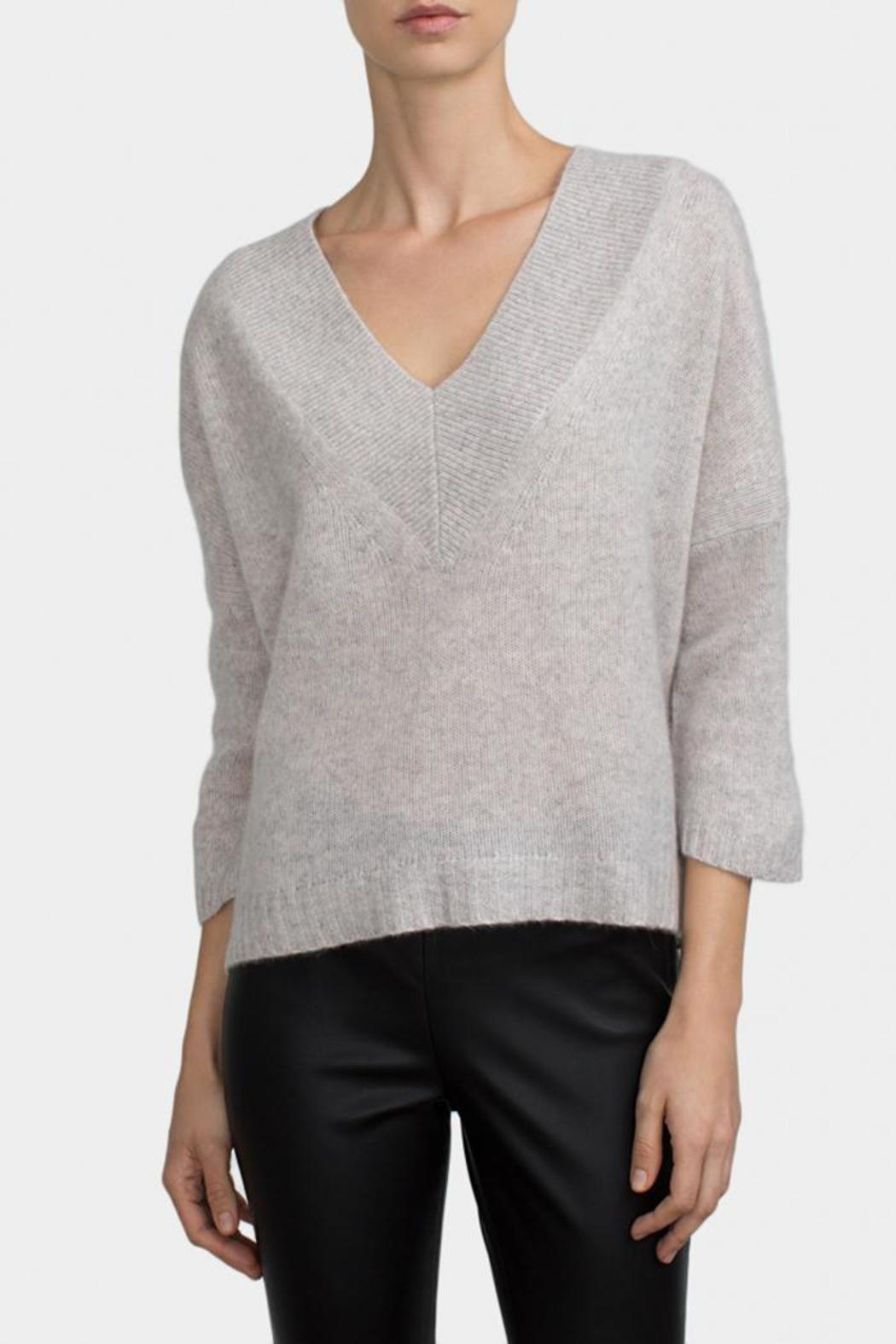 98104e7c7c White + Warren V-Neck Cashmere Top from District of Columbia by The ...