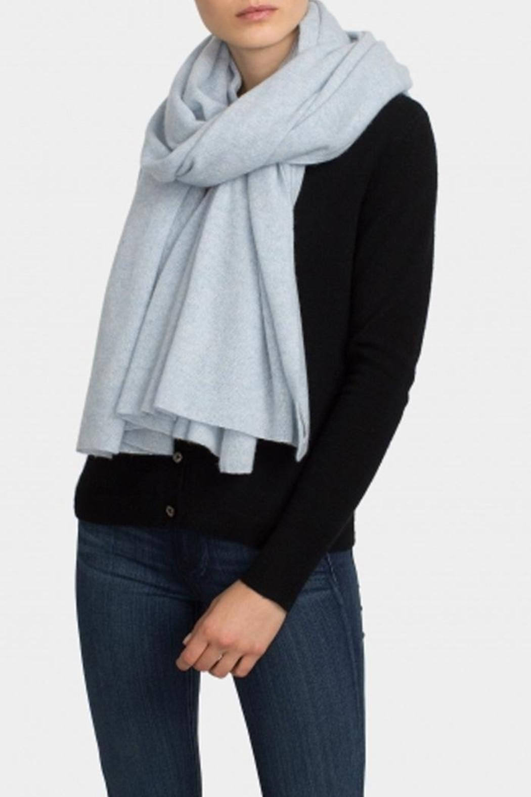 cashmere floral embroidered scarf - Black Cashmere in Love
