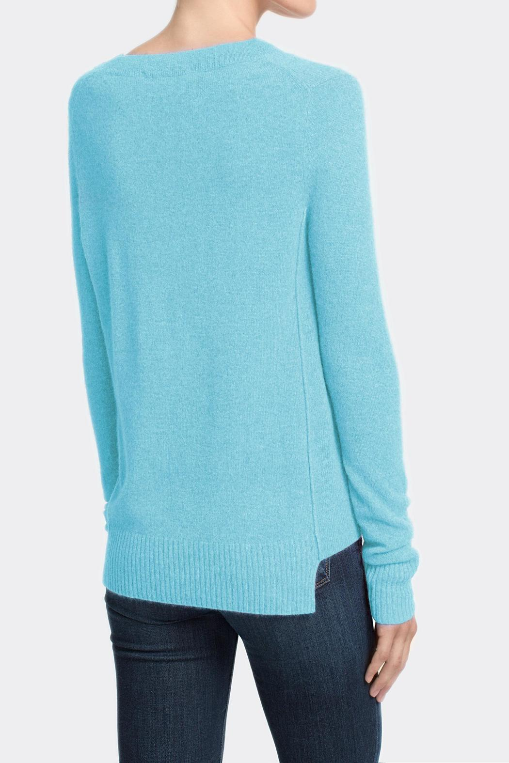 White and Warren Cashmere V-Neck - Side Cropped Image