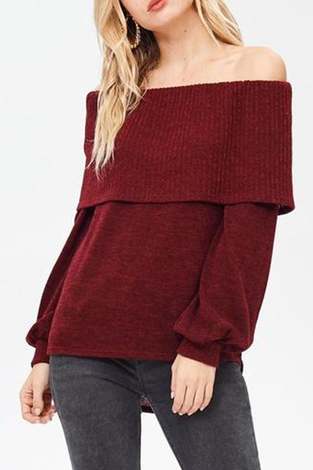 White Birch Bernadette Sweater - Front Cropped Image