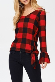 White Birch Buffalo Plaid Top - Front cropped
