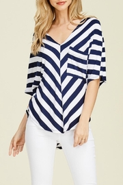 White Birch Caitlin Navy Blouse - Product Mini Image