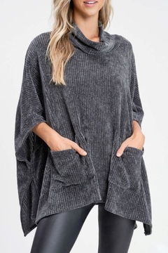 White Birch Charcoal Oversized Sweater - Product List Image